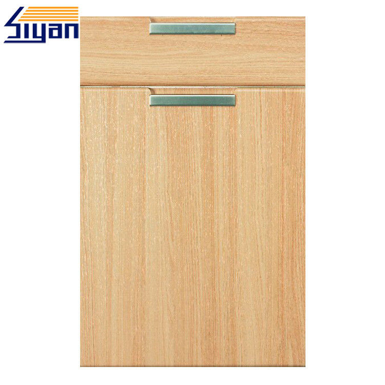 Flat MDF Kitchen Cabinet Doors Wood Grain With 450*678mm Size , OEM Service